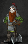Northern dwarf captain by SnowStoat