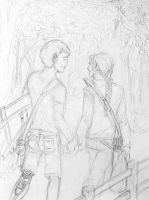 Peeta and Katniss - Out in the Forest by ThundersCry