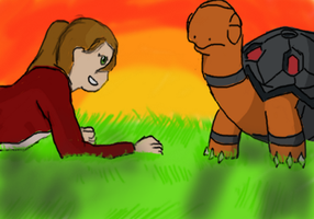 A Girl and Her Turtle by Emerald-Velocity