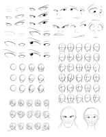 Drawing Practice Sheet 1 by Obhan