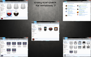 crazy icon pack for windows 7 by saratoga23