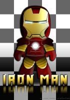 Big Headed Iron Man by jaysquall