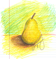 Pear Marker Sketch by katheric