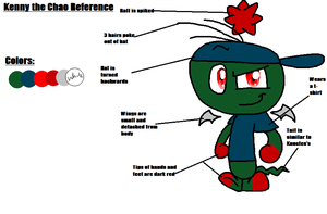 Kenny the Chao Reference Sheet by CandytheHedgebatcat9