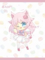 [OPEN Auction ] MAGICAL CAT GIRL by Than-wa