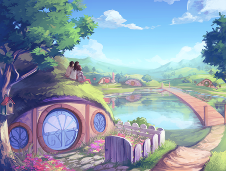 A Hobbit's Home by flysp