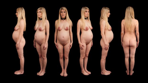 Orthographic Pregnant Nude by LexLucas