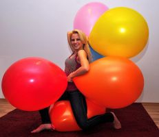 posing with a bunch of 24 inch balloons by billoon45