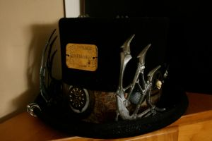 +4 Steampunk hat of coolness by OpheliaMylawnwy