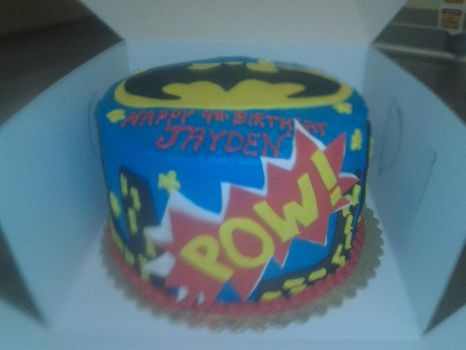 Batman cake side view by whitedove77