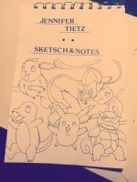 WIP inked pokemon cover by BlackLightning95