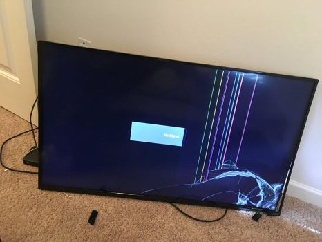 It just great when your tv falls down  by Mining-Turtlez