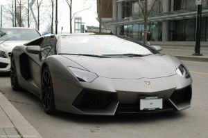 Matte Aventador by SeanTheCarSpotter
