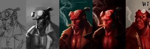 Hellboy Process by leopinheiro