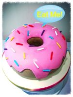 Giant Donut Cake No.2! by gertygetsgangster