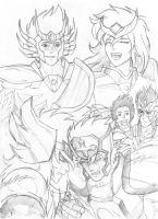 Saint Seiya - draft #3 by Gugaaa