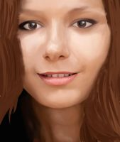 nice womans face WIP 2 by mcgregaw
