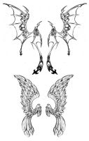 Wing Tattoo Designs by Westbaylen