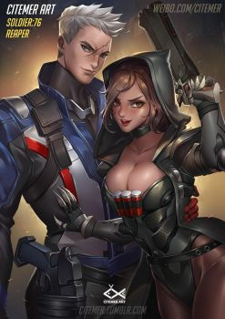 SOLDIER:76 AND REAPER2.0 by citemer