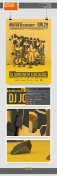 Drum and Bass Flyer / Poster by blercstudio