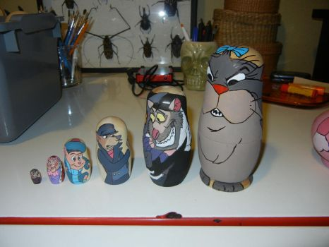 The great mouse detective nesting dolls side 2 by modastrid