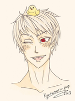 Prussia Bust~ by Biology-of-Pencils