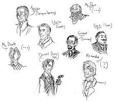 Amnesia characters skectch by gnomKOLIN