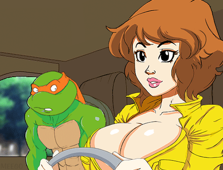 April O'neil driving animated by Meegol