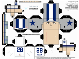 Jason Witten Cowboys Cubee by etchings13