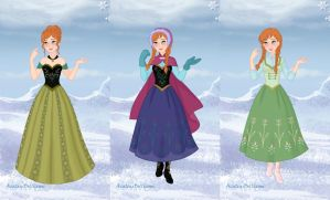 Princess Anna's Wardrobe by LadyAquanine73551