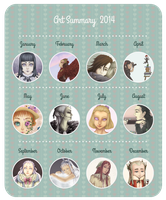 Art Sumary 2014 by Winter-moon-laidy