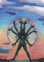 Twilight Salutation by Spiralpathdesigns