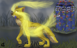 The Golden Time Wolf by LightGoesRawr