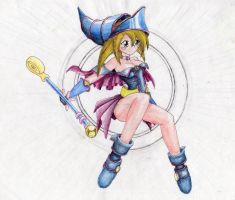 Unfinished 12: Dark Magician Girl by Sleepy17