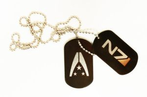 Mass Effect dog tags black by Katlinegrey
