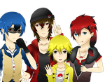 Pokemon Gijinka- Boy Group by YukiTori1