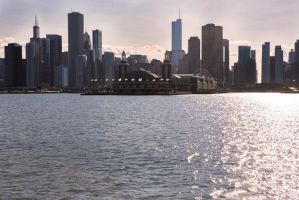View to Navy pier by olgaFI