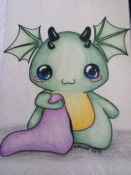Baby dragon by NoodleLizard