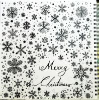 Merry Christmas 2013 with my snowflakes by Nichapon