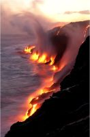 A Battle between the Sea and the Fire by natiy200