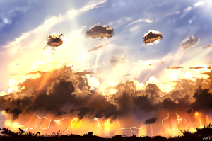 Clouds study by ryky
