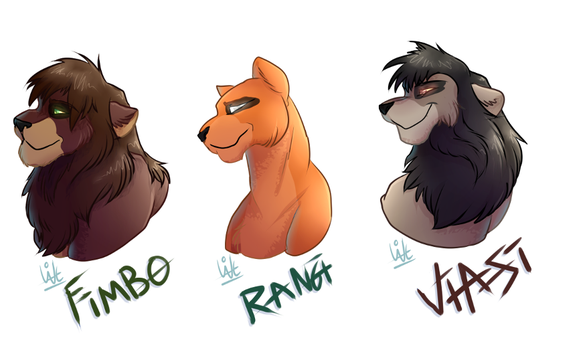 Headshots lions [gift] by Withelias