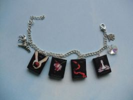 Twilight book charm bracelet by InsaneJellyBean95