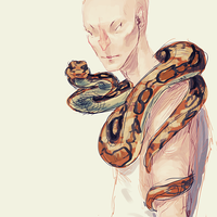 Snake Man by Lynndoodles