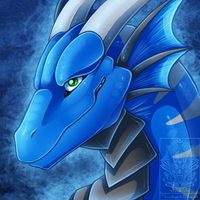 Icon Comish - Azure Smile by TwilightSaint