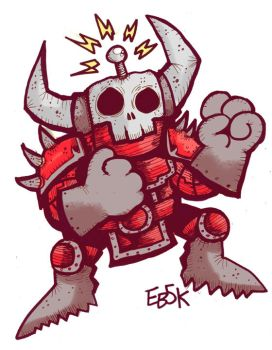 Skullbot Fighter by edbot5000