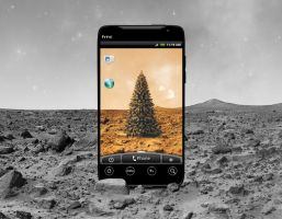 HTC Evo: Martian Christmas by TheAL