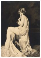Vintage Lady Sitting Nude 13 by Bnspyrd