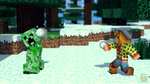 [Request] Snowballs and Creepers by Deku-Gamer-DA
