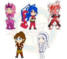 Assorted Chibis - Warriors and Princess by Dragon-FangX